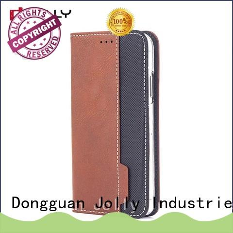 Jolly best magnetic flip phone case with slot kickstand for sale