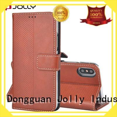 Jolly women magnetic wallet phone case with printed pattern cover for mobile phone