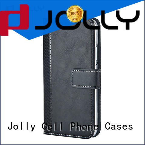 Jolly wallet purse phone case with id and credit pockets for apple