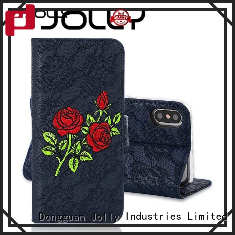 Jolly cases universal smartphone wallet case artificial manufacturer