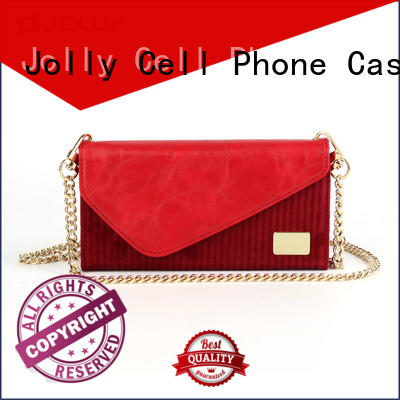 Jolly leather card holder organizer leather cell phone wallet case company for mobile phone