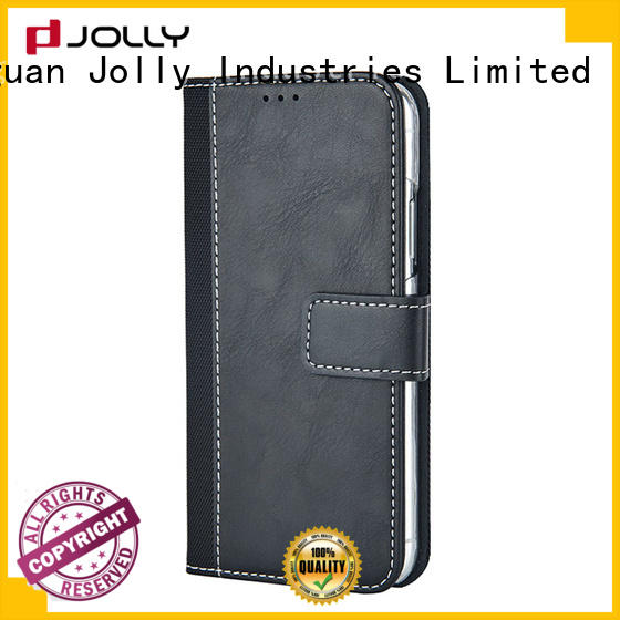 Jolly artificial magnetic wallet phone case supply for mobile phone