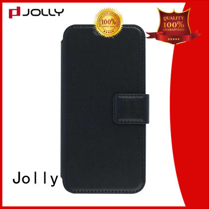 leather flip phone case with slot for mobile phone Jolly