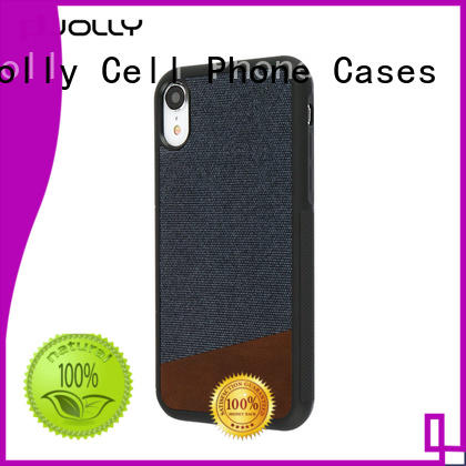 Jolly slim spliced two leather personalised phone covers factory for sale