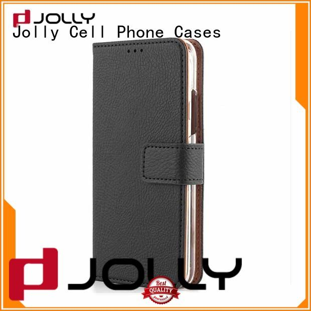 leather card holder organizer wallet phone case with id and credit pockets for sale