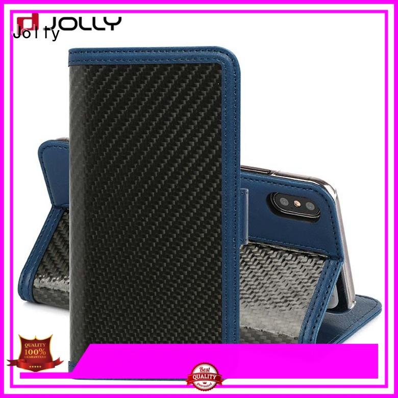 Jolly Brand slot card wallet phone case manufacture