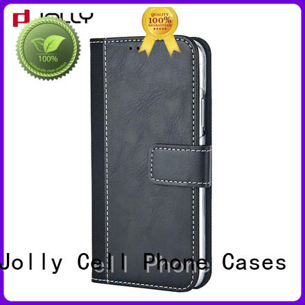 real carbon fiber cell phone wallet combination with slot for apple