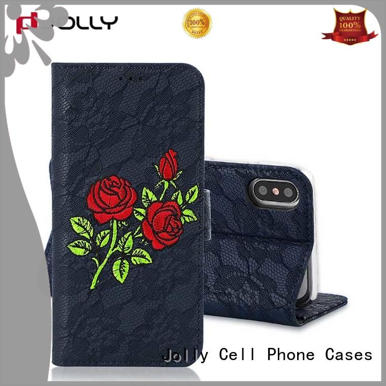 women's cell phone wallet with credit card holder for apple Jolly