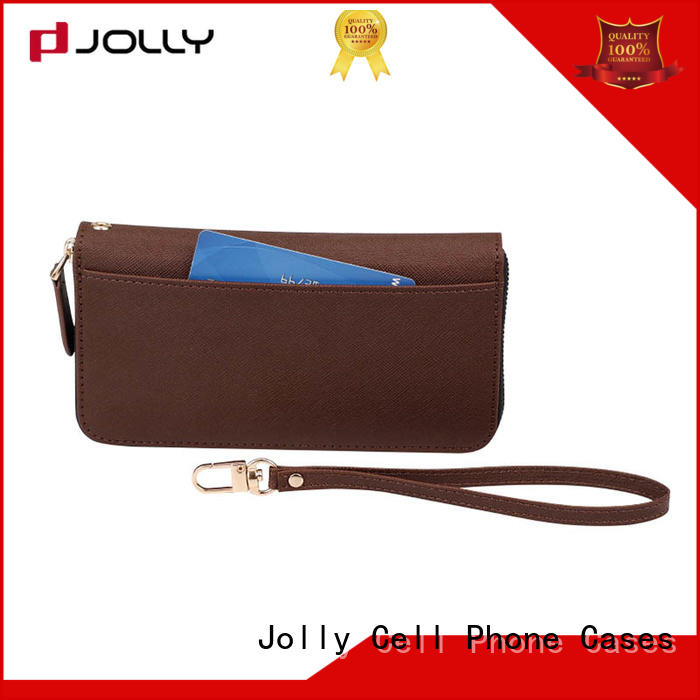 Jolly imitation wallet phone case with cash compartment for iphone xs
