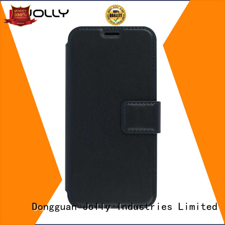 pu leather cell phone cases with id and credit pockets for sale