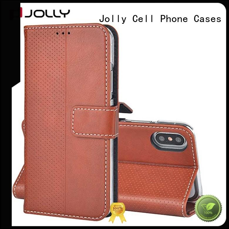 artificial wallet purse phone case with cash compartment for apple