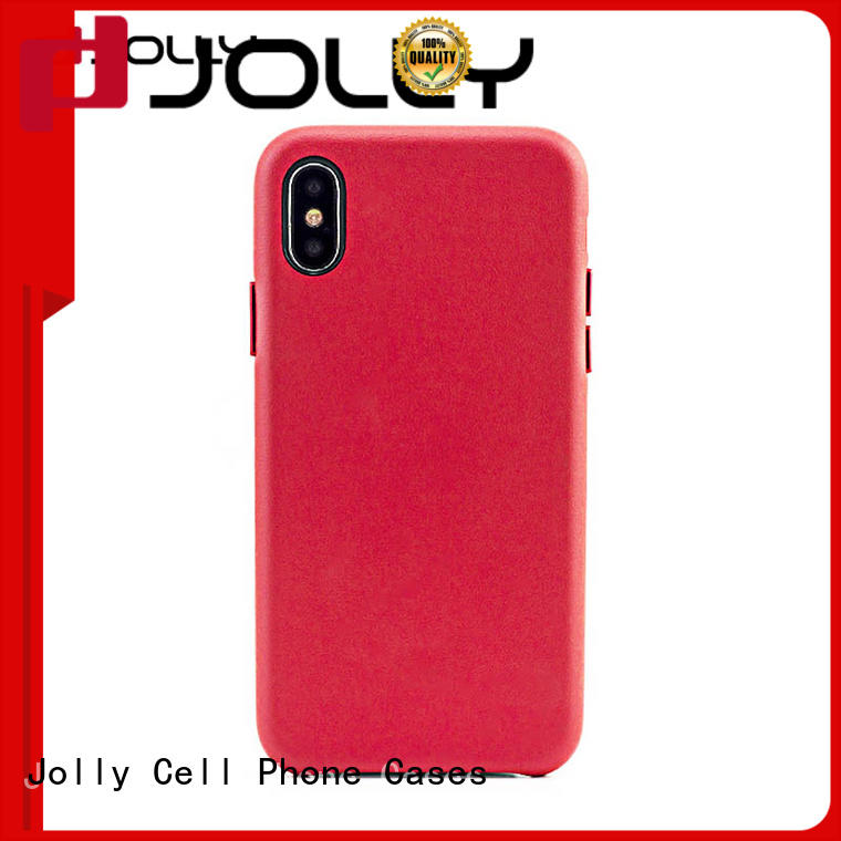 Mobile Back Cover For iPhone X, Slim Pu Leather Phone Case DJS0652