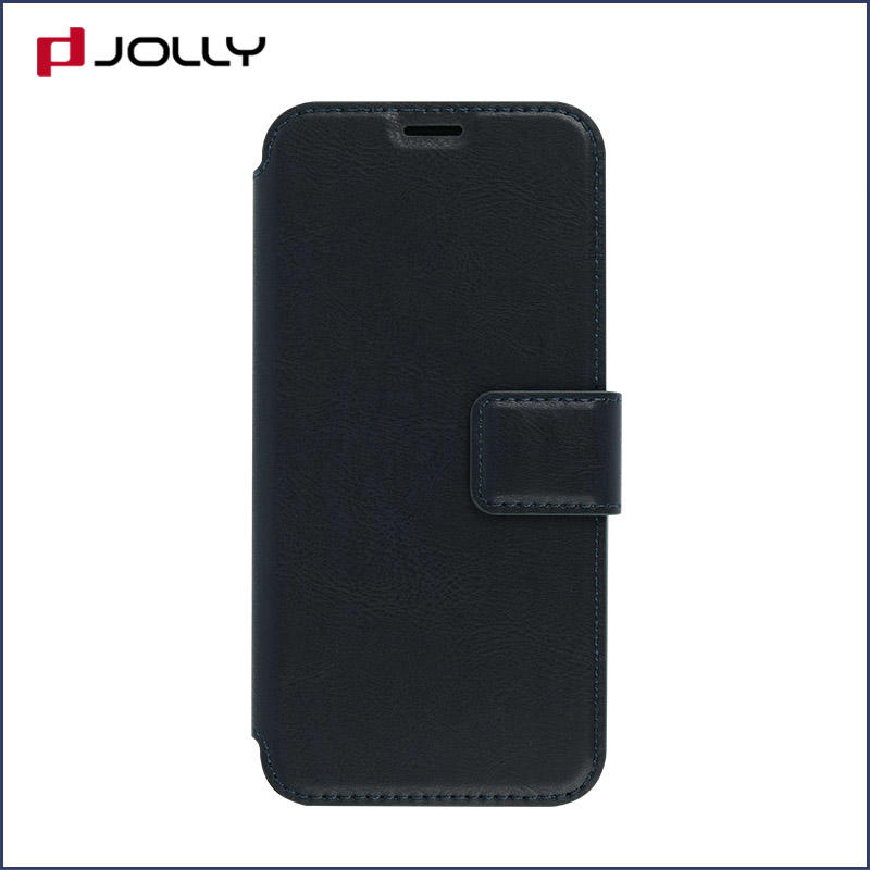 slim leather flip phone case with id and credit pockets for sale-3