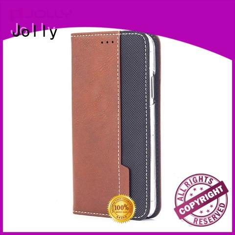 Jolly slim leather leather phone case with slot for mobile phone