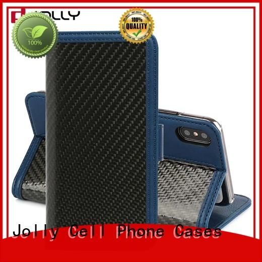 Jolly real carbon fiber phone case and wallet djs for apple