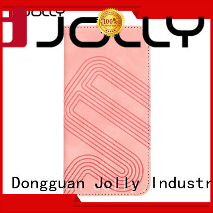 Jolly pu leather flip cover phone case for mobile phone