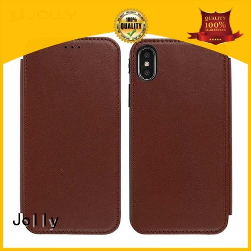 hot sale mobile phone flip cases with strong magnetic closure for mobile phone Jolly
