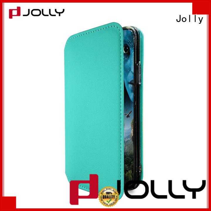 Jolly slim leather smartphone flip case for sale