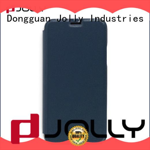 Custom Case Slim Pu Leather Flip Phone Case With Slot DJS0984