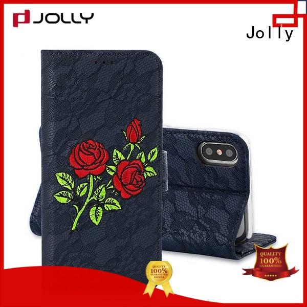zip around wallet phone case with id and credit pockets for iphone xs