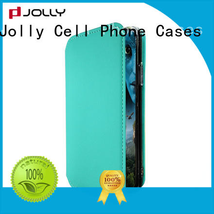 Jolly mobile magnetic flip phone case pu supplier