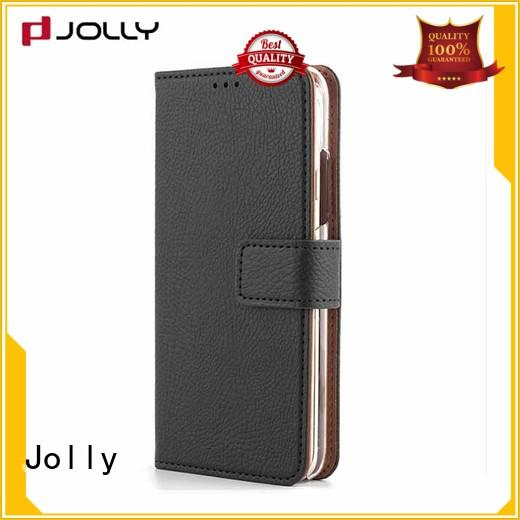 Jolly new wallet purse phone case with rfid blocking features for mobile phone
