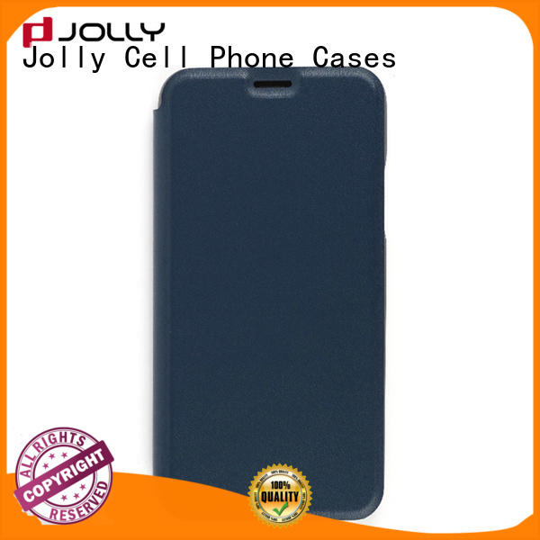 folio anti radiation phone case with slot kickstand for mobile phone
