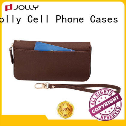 Jolly artificial cell phone wallet wristlet company for iphone xs
