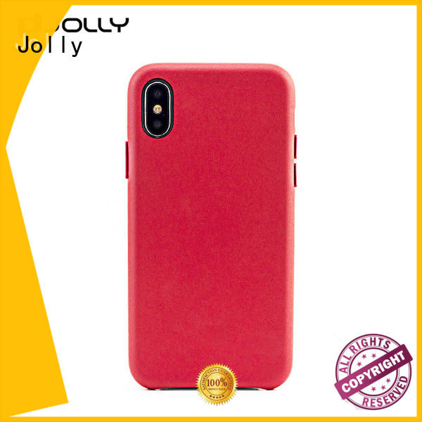 Jolly slim spliced two leather mobile back cover manufacturer for sale