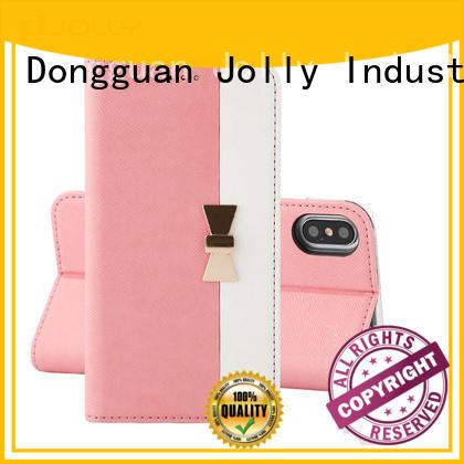 Jolly folio custom flip phone cases for mobile phone