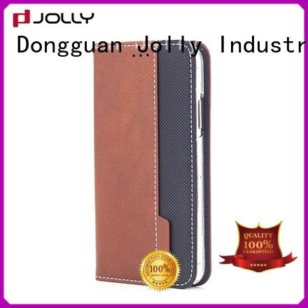 Jolly slim leather leather flip phone case supply for iphone xs