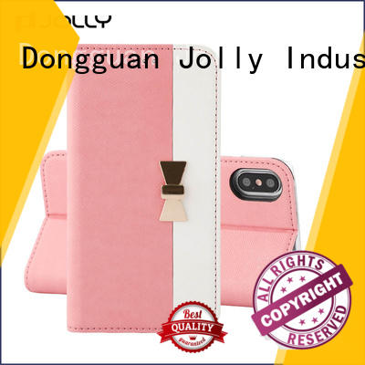 custom leather flip phone case supply for mobile phone