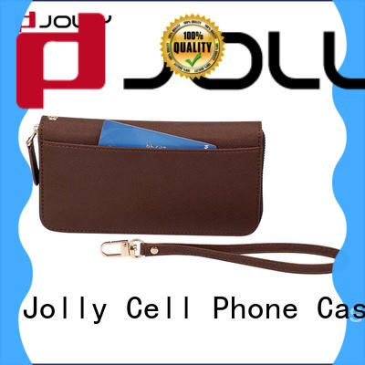 Jolly book women's cell phone wallet with cash compartment for iphone xs