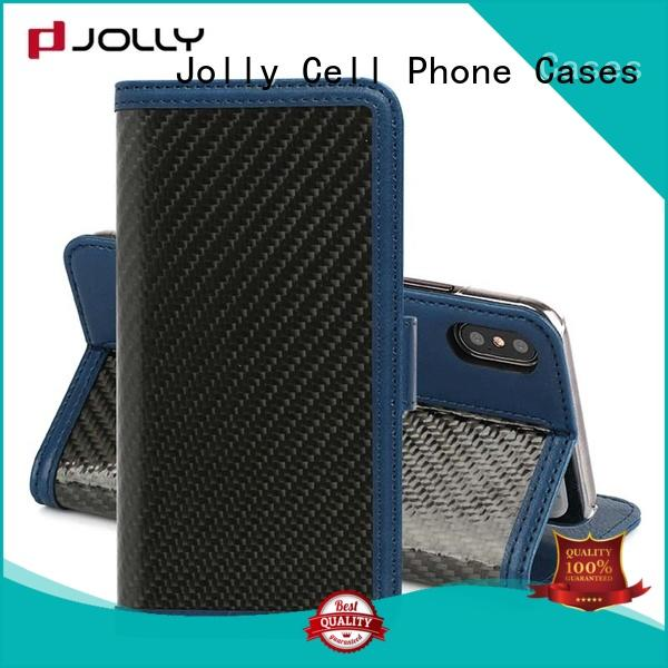 djs iphone wallet phone case with cash compartment for apple Jolly