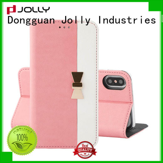 Jolly leather flip phone case factory for mobile phone