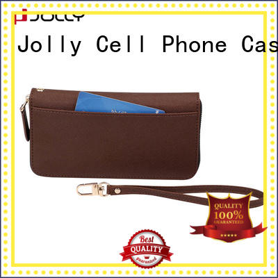 best iphone zipper wallet case with rfid blocking features for apple Jolly