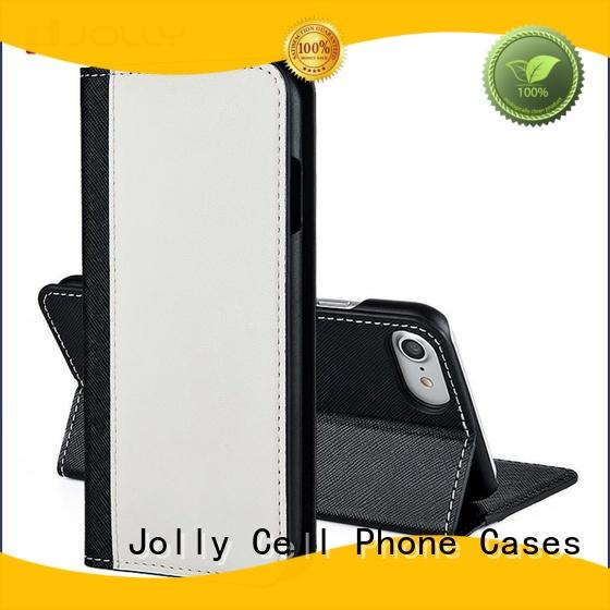 Jolly accessories designer cell phone wallet carbon maker