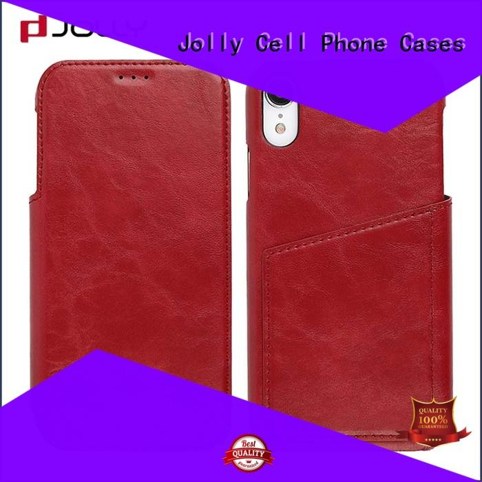initial case flip with slot kickstand for iphone xs Jolly