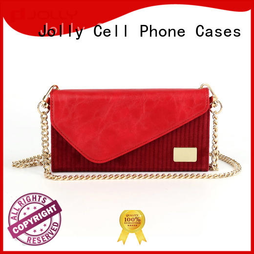 Jolly cell phone wallet purse with rfid blocking features for sale