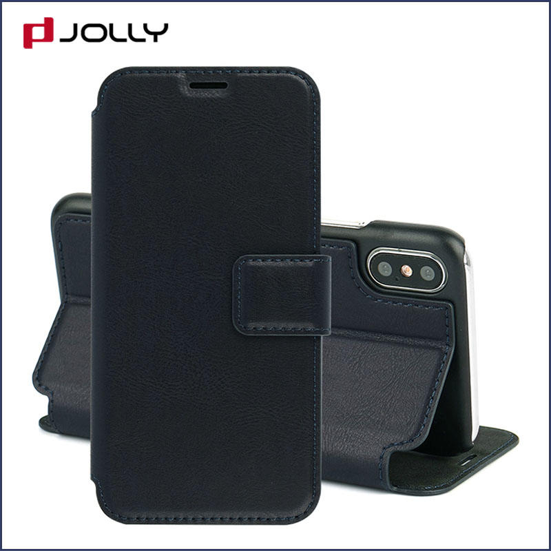 slim leather flip phone case with id and credit pockets for sale-2