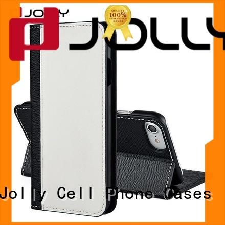 professional leather cell phone wallet case with rfid blocking features for sale
