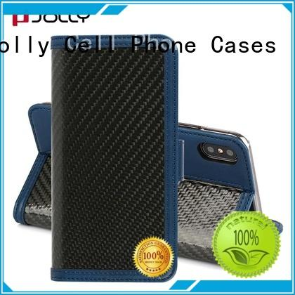 Jolly artificial wallet style phone case with slot for sale