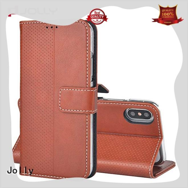 Jolly cell phone wallet combination with cash compartment for mobile phone