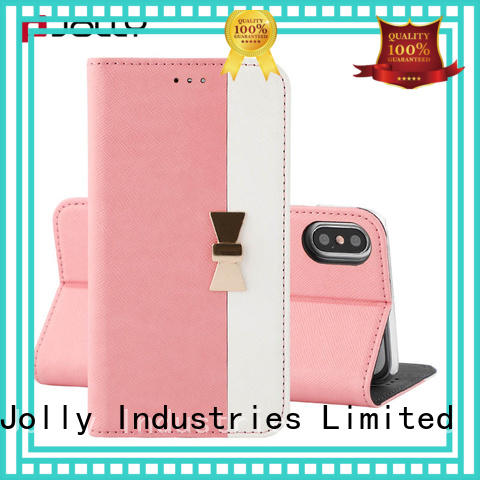 slim leather apple iphone flip case with strong magnetic closure for sale
