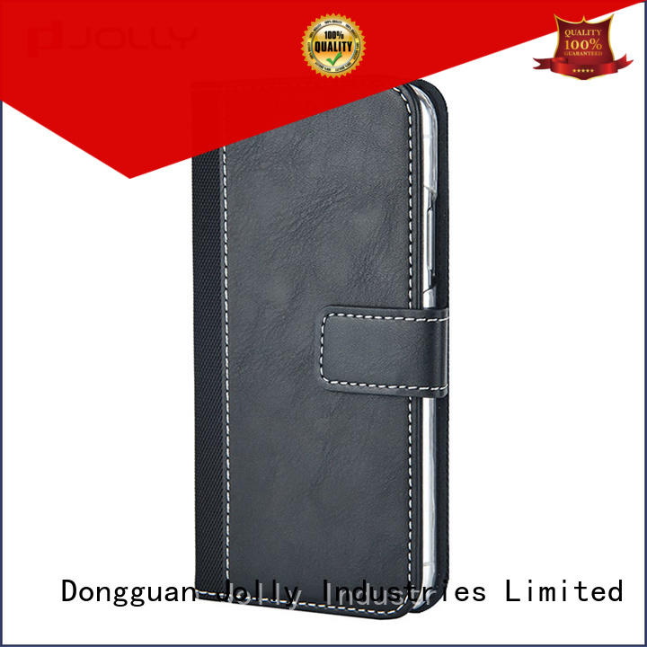 Jolly real carbon fiber cell phone wallet combination company for apple