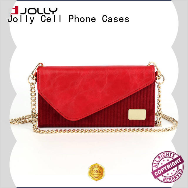 Jolly wholesale magnetic wallet phone case factory for apple