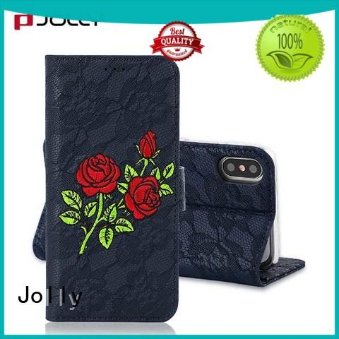 wholesale leather wallet phone case with rfid blocking features for apple