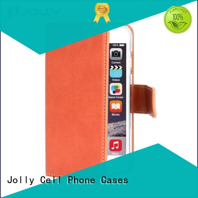 Jolly cell phone wallet with slot for mobile phone