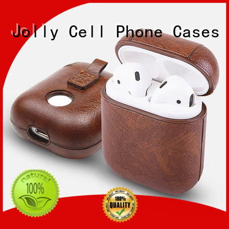 Jolly protective Airpods Case with button hole hollow for mobile phone