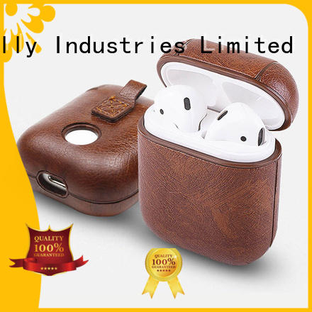 Jolly earpods carrying case with button hole hollow for apple airpods